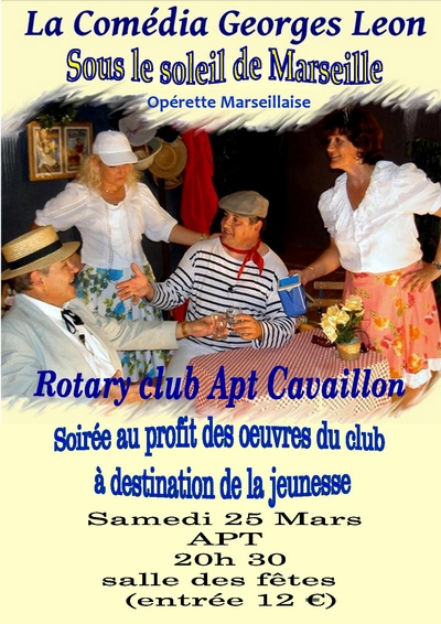 mairie d 39 apt soir e rotary club apt cavaillon. Black Bedroom Furniture Sets. Home Design Ideas